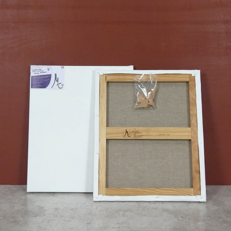 Toile a peindre 100% lin grain moyen