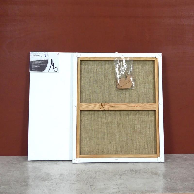 Toile a peindre 100% lin grain extra fin