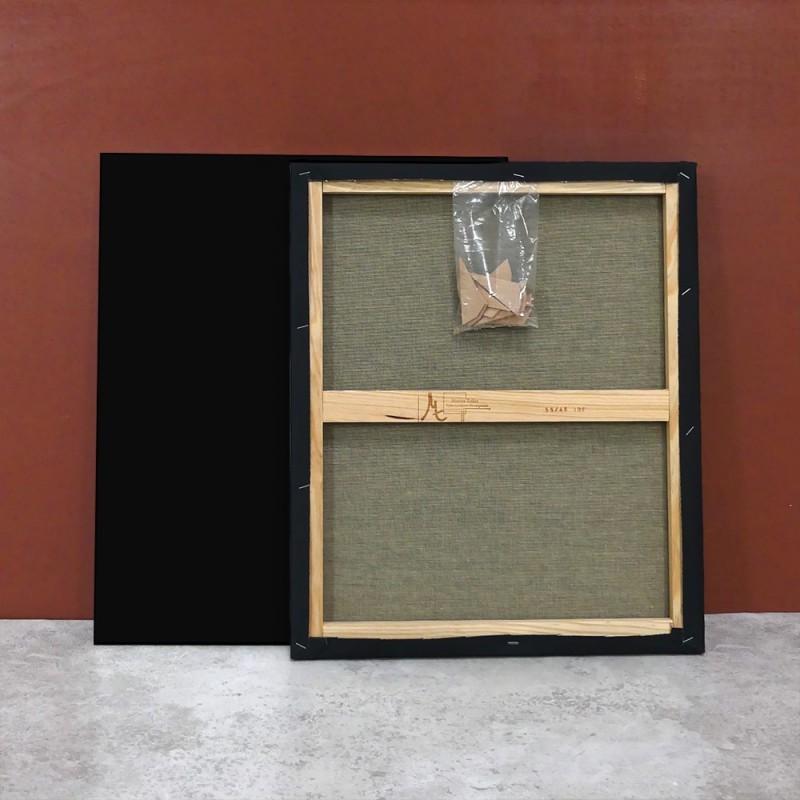 Chassis toile noire fibres mixtes coton polyester