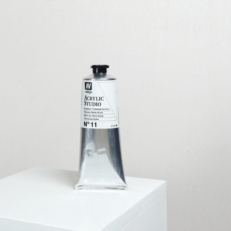 Acrylique Blanc de Titane Rutile PW6 Studio de Vallejo