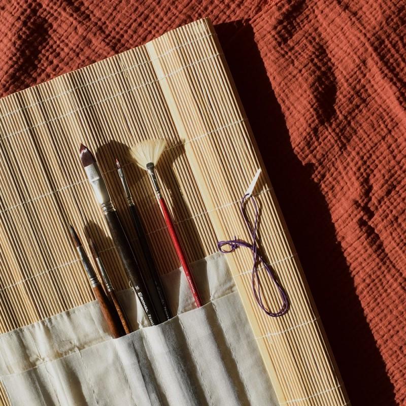 Pincelier natte en bambou
