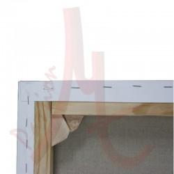Châssis 3D Entoilé - Toile Vierge Prête à Peindre 100% Polyester Grain Fin