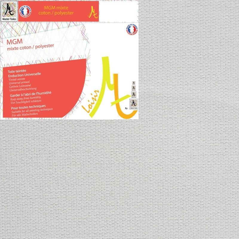Châssis Entoilé - Toile Vierge Prête à Peindre Mixte Polyester Coton Grain Moyen