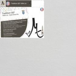 Châssis Entoilé à Crans Biais - Toile Vierge Prête à Peindre 100% Lin Grain Extra Fin