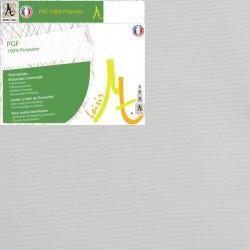 Rouleau de Toile Vierge Prête à Peindre 100% Polyester Grain Fin - Largeur 2.10m