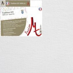 Rouleau de Toile Vierge Prête à Peindre 100% Lin Grain Fin - Largeur 2.15m