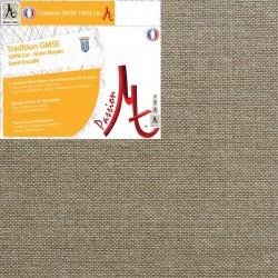 Rouleau de Toile Vierge Prête à Peindre 100% Lin Grain Moyen Serré Encollé Couleur Lin Naturel Brut - Largeur 2.15m