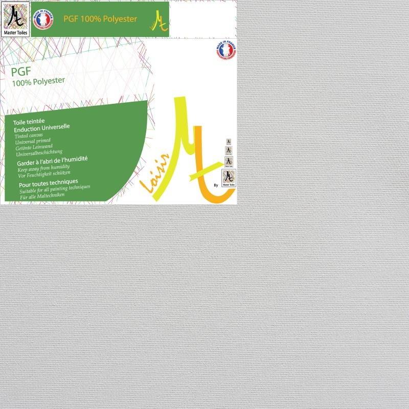Toile Vierge Prête à Peindre Sur-Mesure en Rouleau 100% Polyester Grain Fin