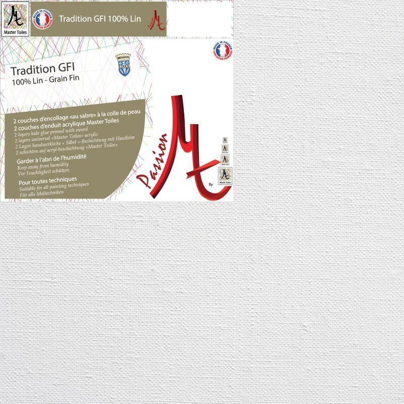 Toile Vierge Prête à Peindre Sur-Mesure en Rouleau 100% Lin Grain Fin