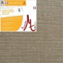 Châssis Entoilé Sur-Mesure - Toile Vierge Prête à Peindre 100% Lin Grain Moyen Serré Encollé Couleur Lin Naturel Brut -