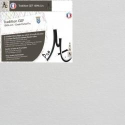 Toile Vierge Prête à Peindre Sur-Mesure en Rouleau 100% Lin Grain Extra Fin