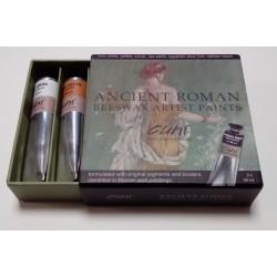 Encaustique Set Peintures Antiques -Couleurs Romaines - 5 couleurs de 40ml