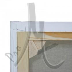 Châssis Entoilé Sur-Mesure - Toile Vierge Prête à Peindre 100% Lin Grain Moyen Serré