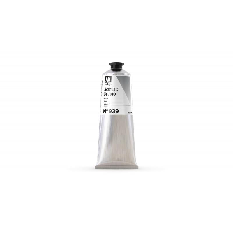 Acrylique Argent Mica+PBk7 Studio de Vallejo