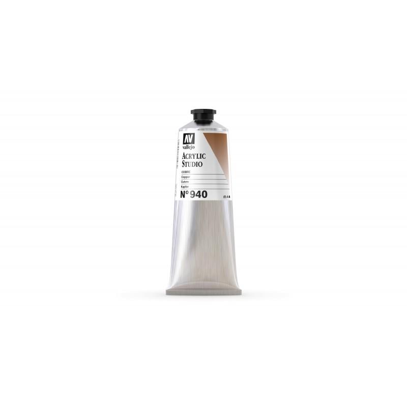 Acrylique Cuivre Mica+PR101 Studio de Vallejo