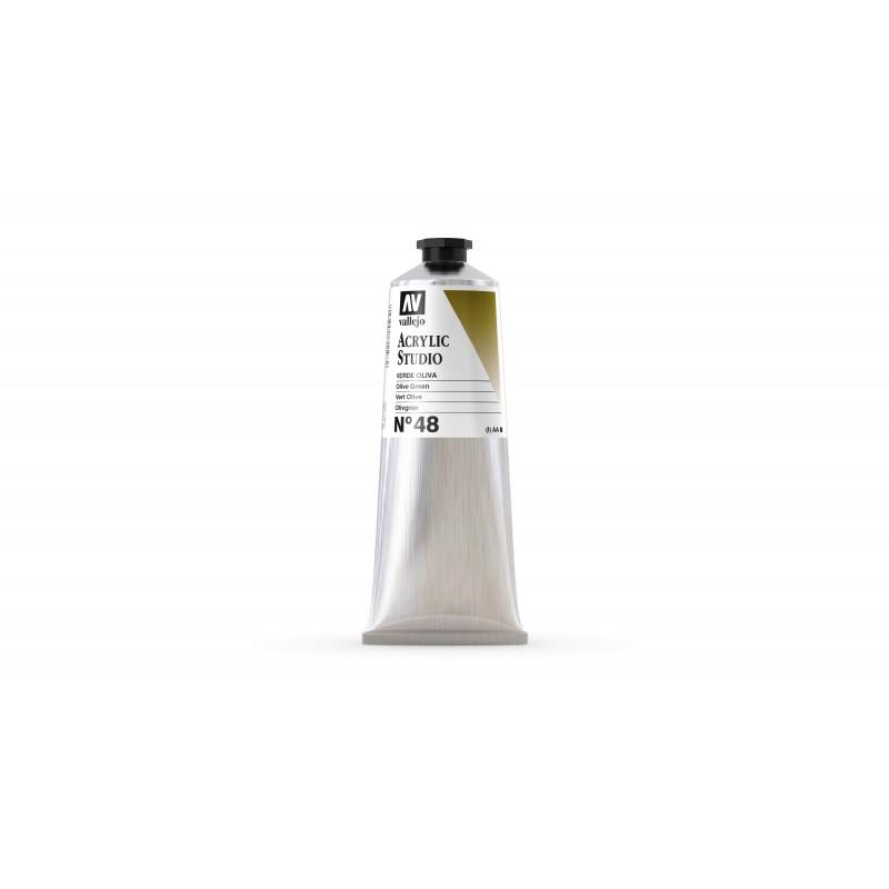 Acrylique Verte Olive PG7+PY42+PR101 Studio de Vallejo