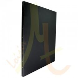 Chassis toile noire polyester/coton teintée au dos