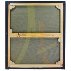 Châssis Entoilé - Toile Vierge Prête à Peindre Mixte Polyester Coton Grain Moyen Noire