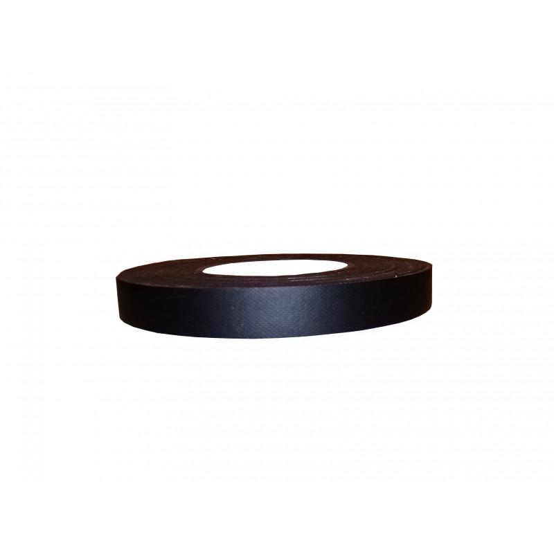 Rouleau adhésif de toile noire mate 19 mm
