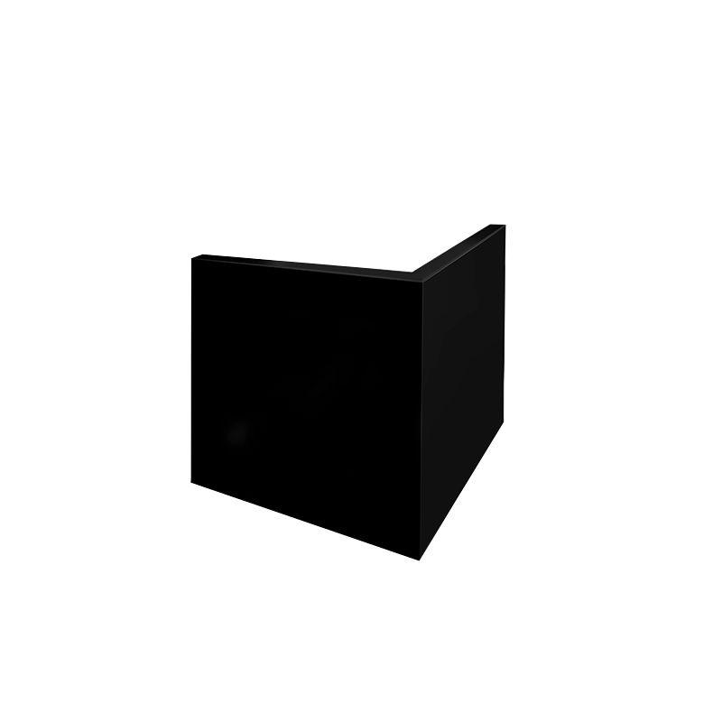 Toile d'angle Convexe DOS A DOS  CARRE-Coton/ Polyester  noir grain moyen