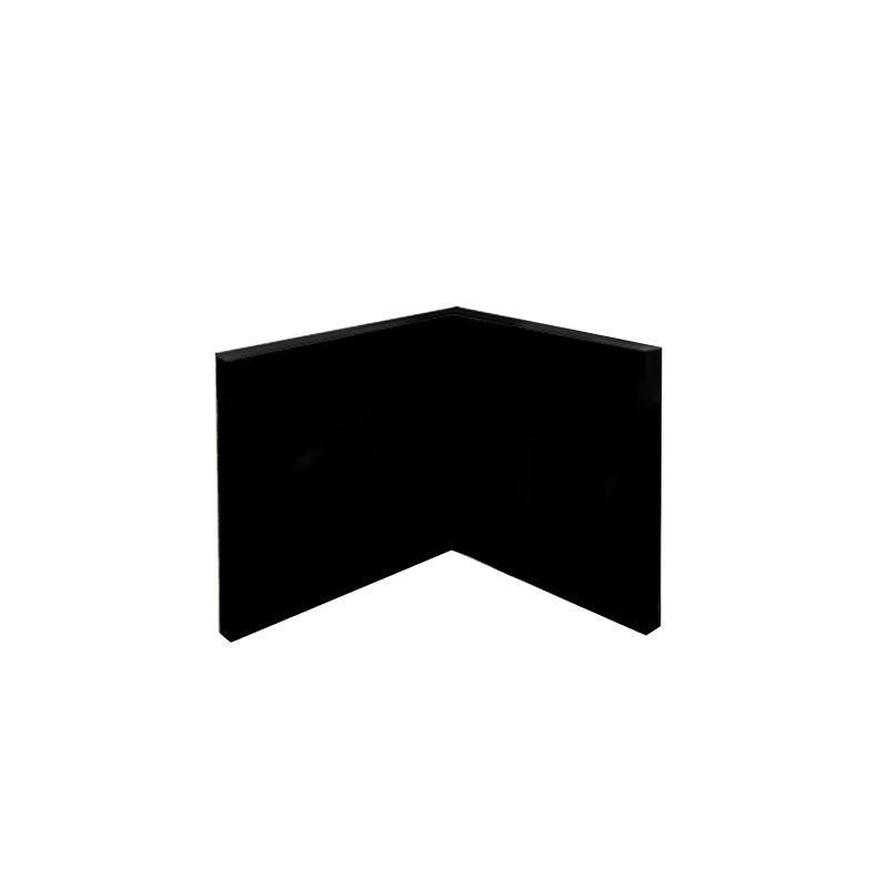 Toile d'angle Concave  - VIS A VIS CARRE Coton/ Polyester noir Grain moyen